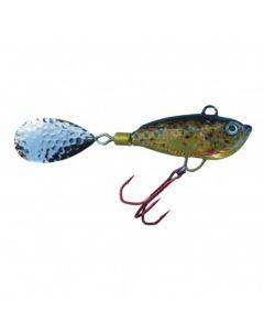 Spinner Jig mit Fischdekor Bachforelle / Blatt gold 19g