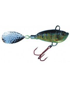 Spinner Jig mit Fischdekor Flussbarsch/Zander 40g