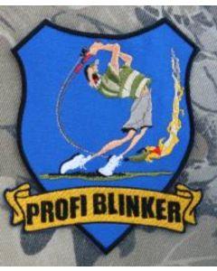 Profi Blinker Aufnäher blau Jubiläumsangler