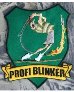 Profi Blinker Aufnäher dunkelgrün Jubiläumsangler