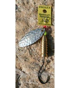 Prolex Spinner Oval gold - gehämmert Größe 2 - Einzelhaken