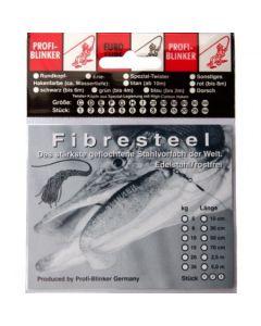 Fibresteel Montage mit Schlaufe und Wirbel 70cm 8kg