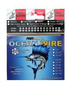5m Ocean-Wire Stahlvorfächer - 55kg Tragkraft