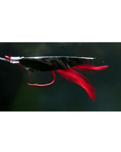 Meerespaternoster Schwarz-Rot Größe 12/0