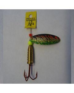Prolex Spinner Oval- Effektlackierung gold fluogrün Größe 4