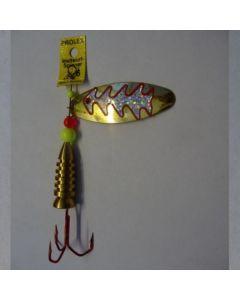 Oval - gold Reflexfolie silber metallic Größe 6
