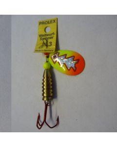 Prolex Spinner Tropfen - Fluo mit Reflexfolie silber metallic Größe 5
