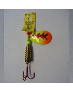 Prolex Spinner Tropfen - Fluo mit Reflexfolie rot metallic Größe 3