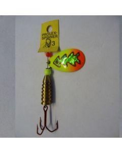 Prolex Spinner Tropfen - Fluo mit Reflexfolie grün metallic Größe 5
