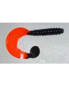 Profi Blinker Turbotail (D) 11cm schwarz-rot 7er Pack