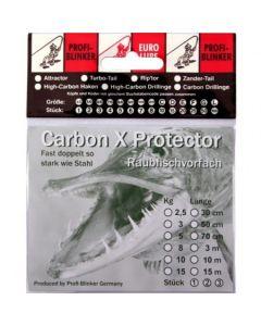 Carbon X Montage mit Schlaufe und Drilling 50cm 10kg