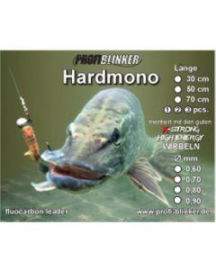 Hardmono-Vorfach aus Fluocarbon 50cm, Ø 0,80mm 3 Stück