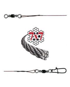 Soft-Wire Fertigmontage 7x7 mit Wirbel und Snap bronze 30cm Größe 6